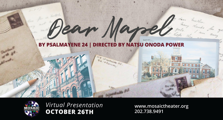 Mosaic Theater Presents Dear Mapel by Psalmayene 24