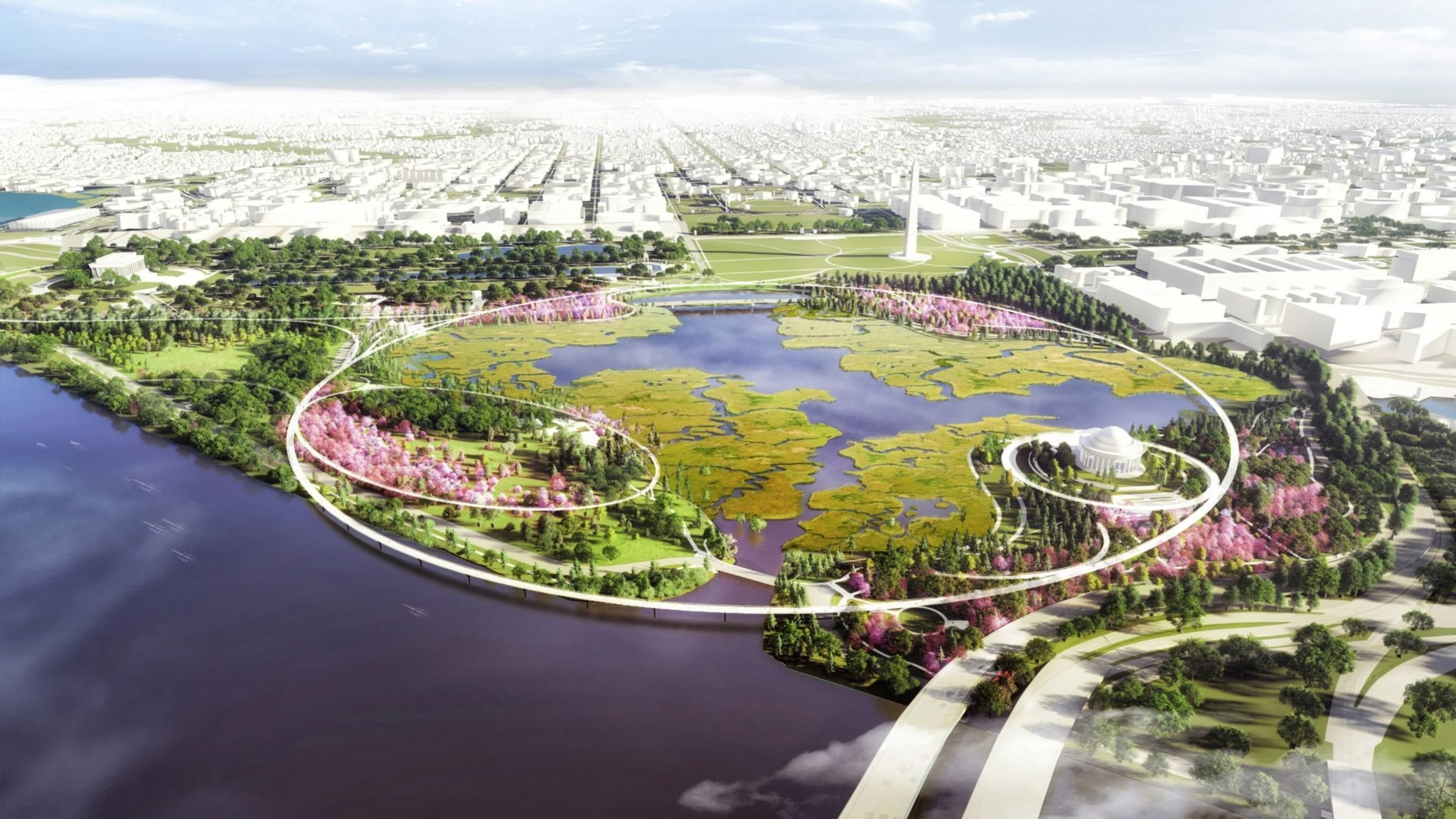 This New Project Imagines What the Tidal Basin Could Look Like in 100 Years