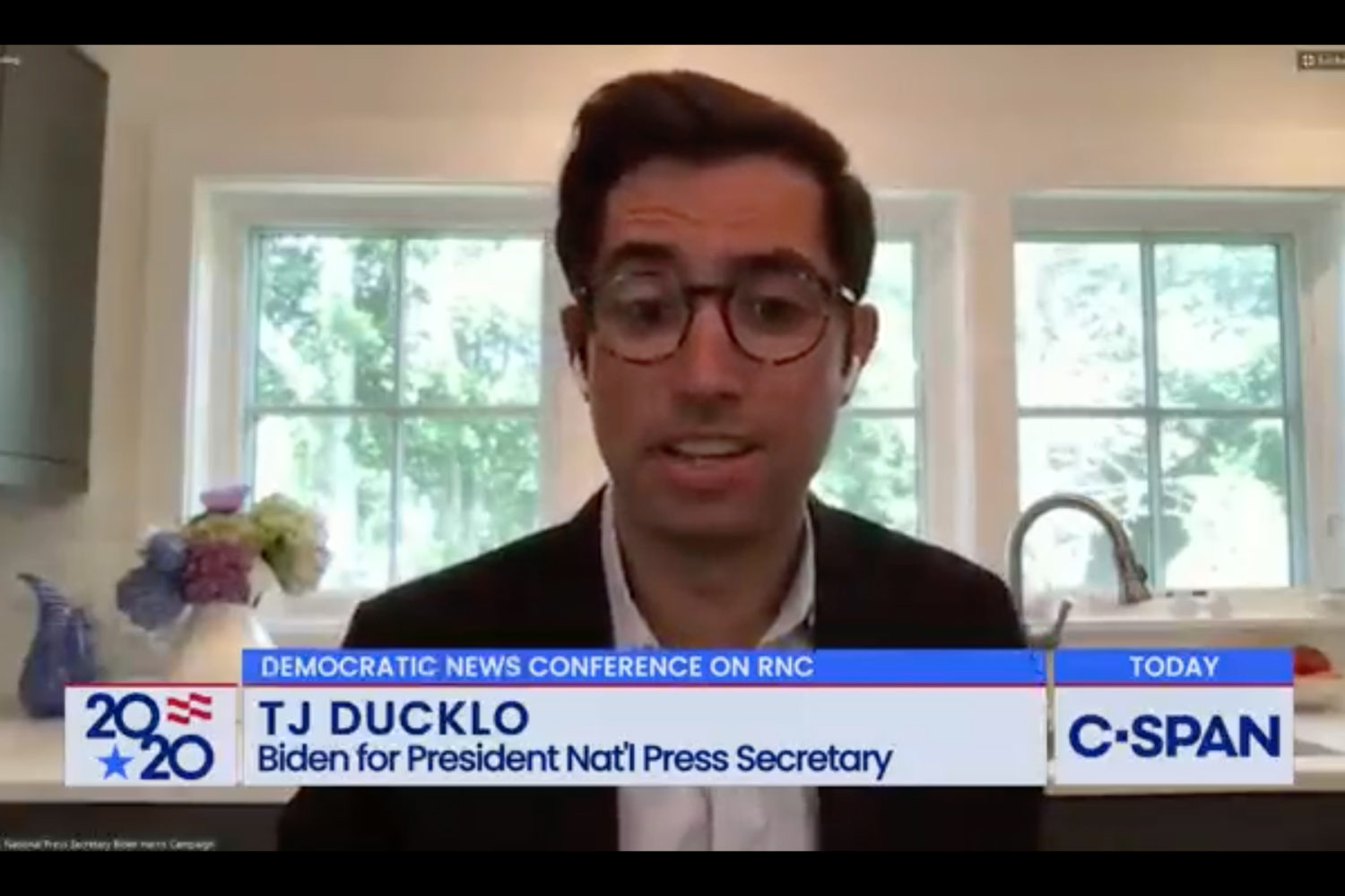 If Biden wins, Ducklo may join the White House press shop. Photograph by C-Span.