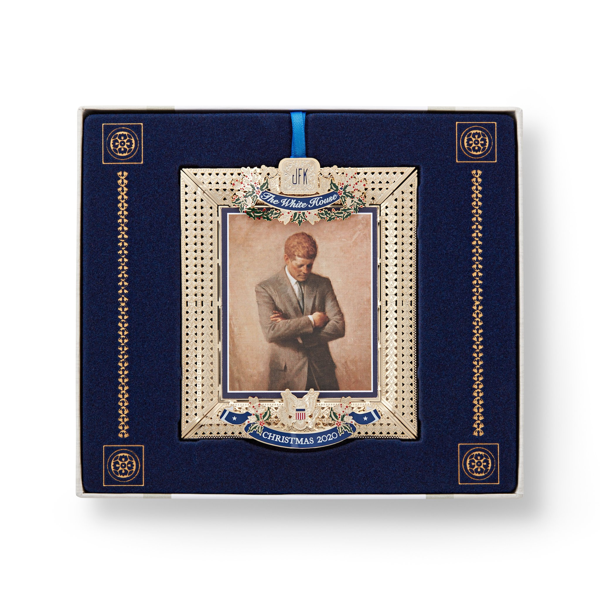 Trump 2020 Christmas Ornament Collection This Year's White House Christmas Ornament Honors John F. Kennedy