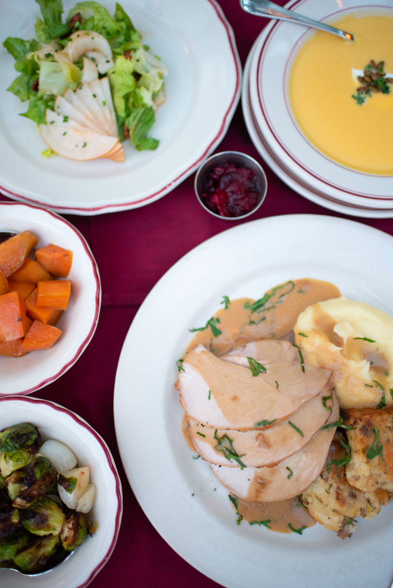 Thanksgiving dinner at Le Diplomate. Photo by Rachel Pruett.