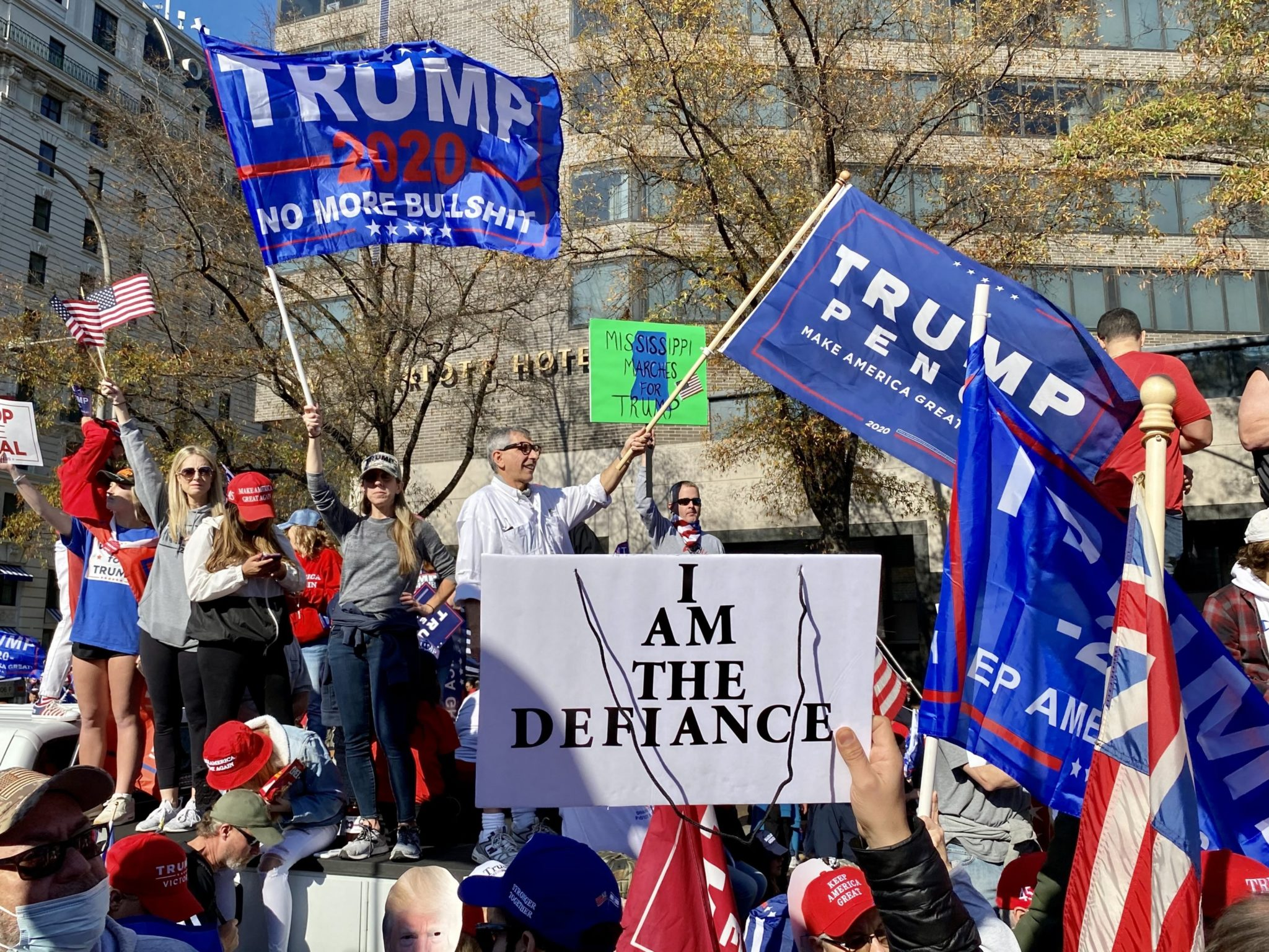 The Million MAGA March on November 14, 2020. Photograph by Evy Mages.