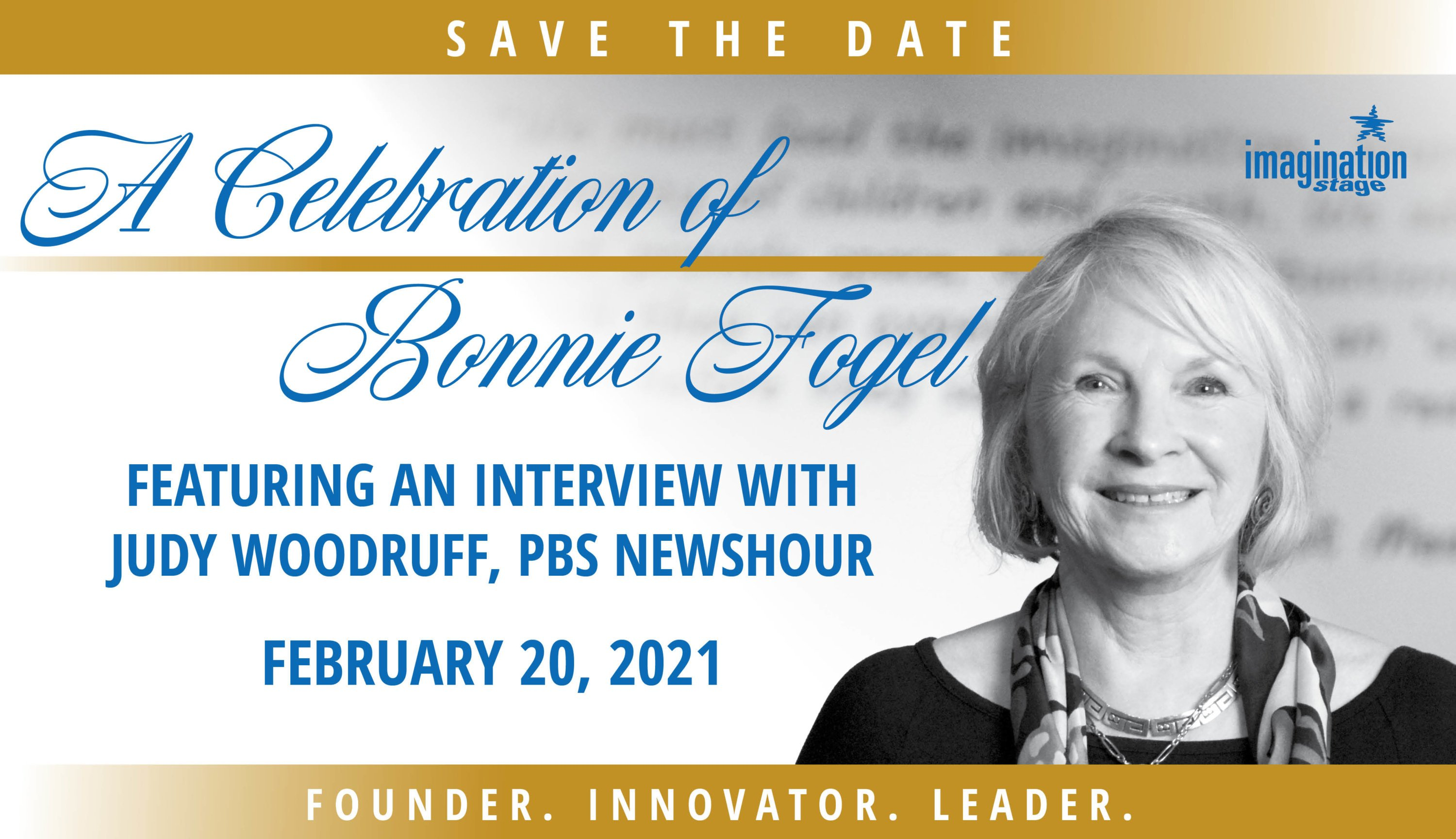 A Celebration of Bonnie Fogel Featuring an interview with Judy Woodruff, PBS NewsHour