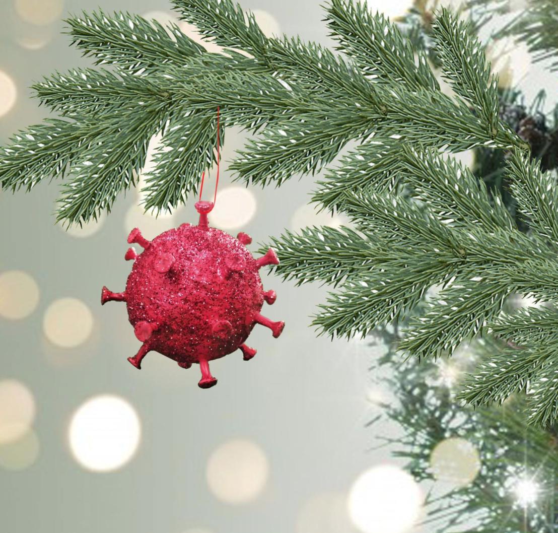 Covid Christmas ornaments