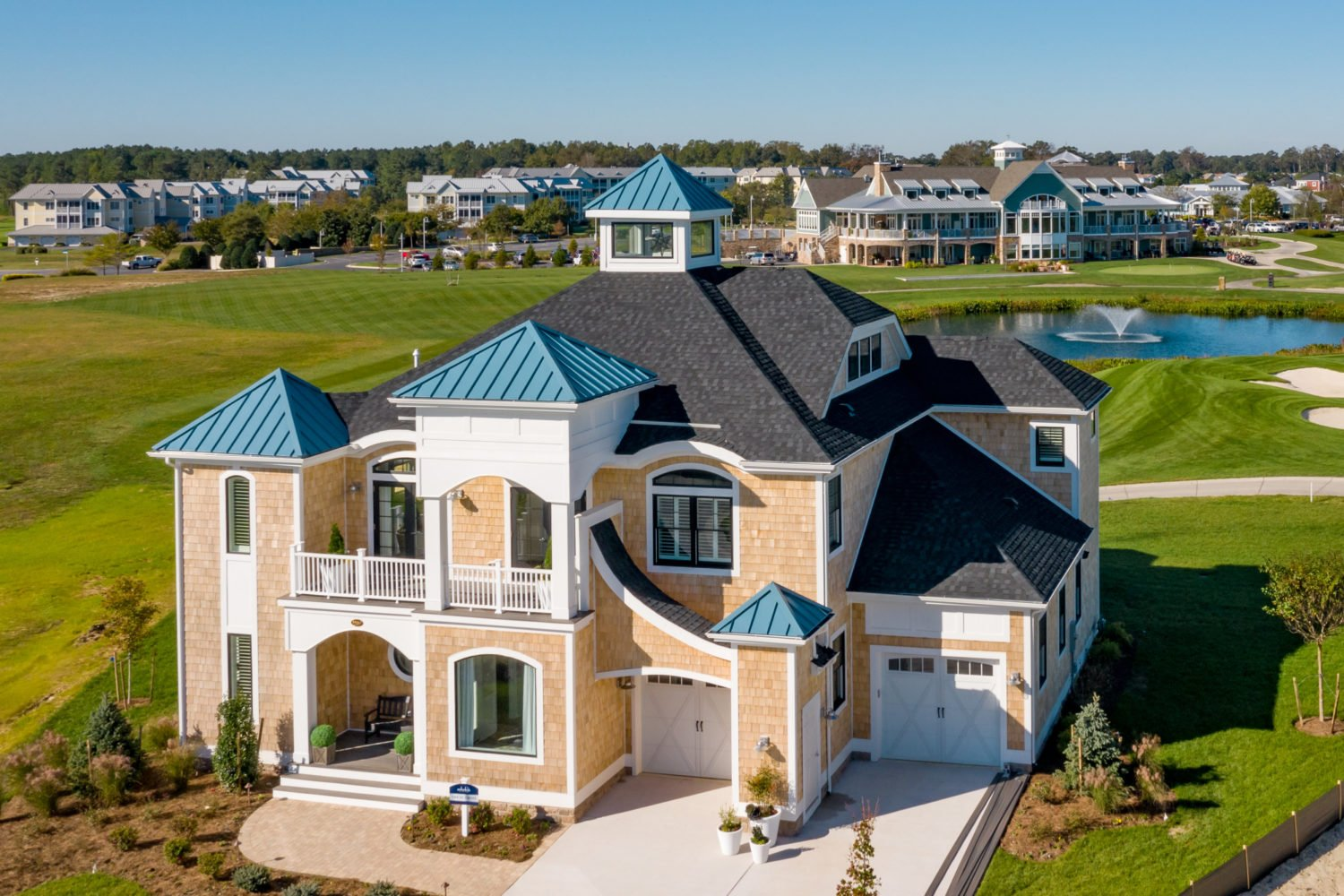 Rare golf-course view home available for move-in today in Coastal Delaware's premier community, The Peninsula