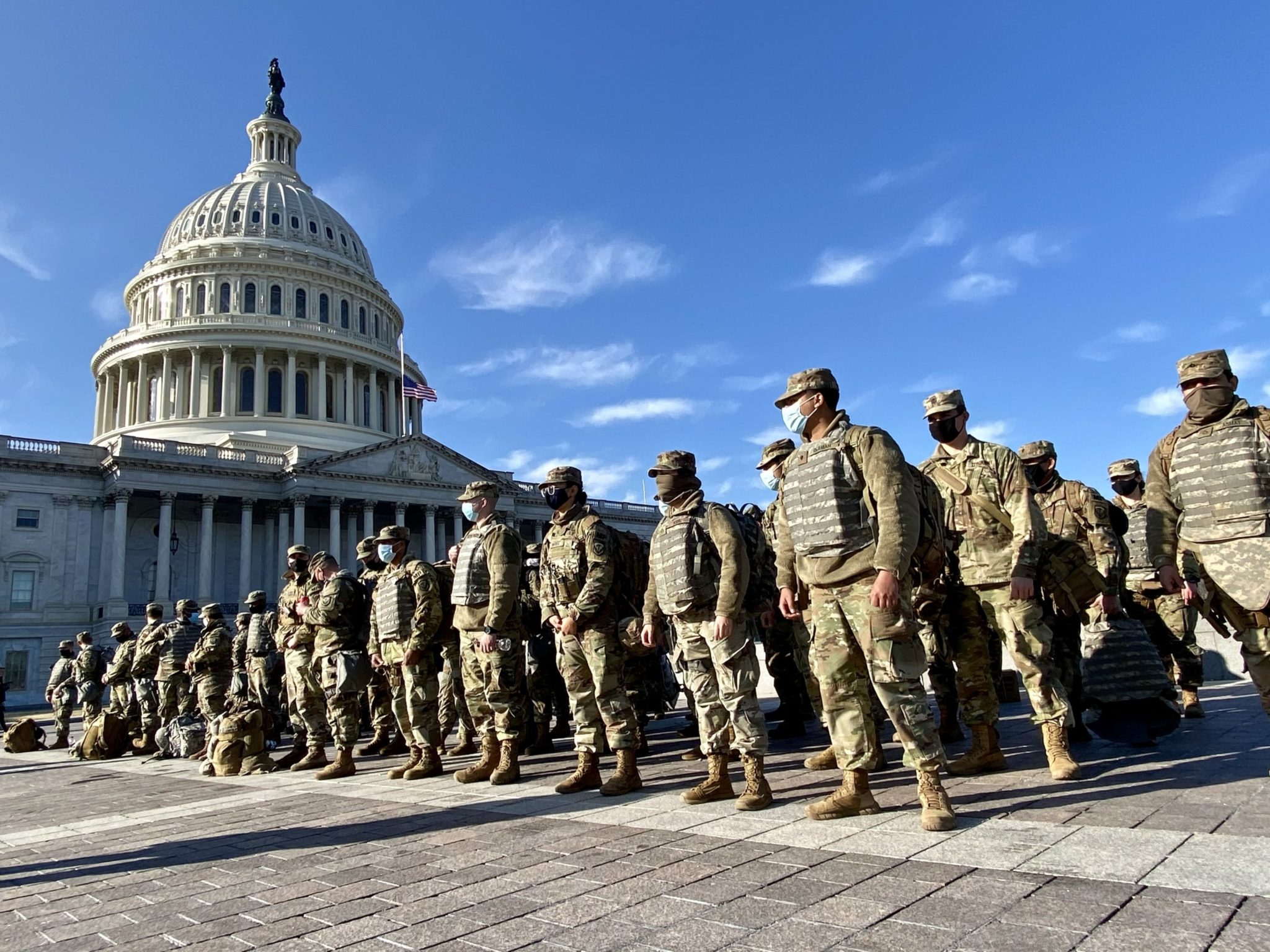 Photos: National Guard Troops Are Patrolling the Capitol Building in Force
