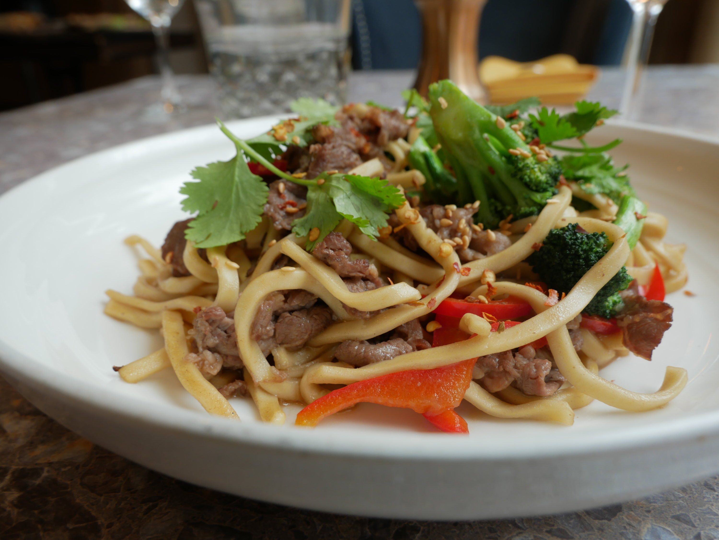 Shaved beef lo mein. Photograph courtesy of Stingray Kitchen.