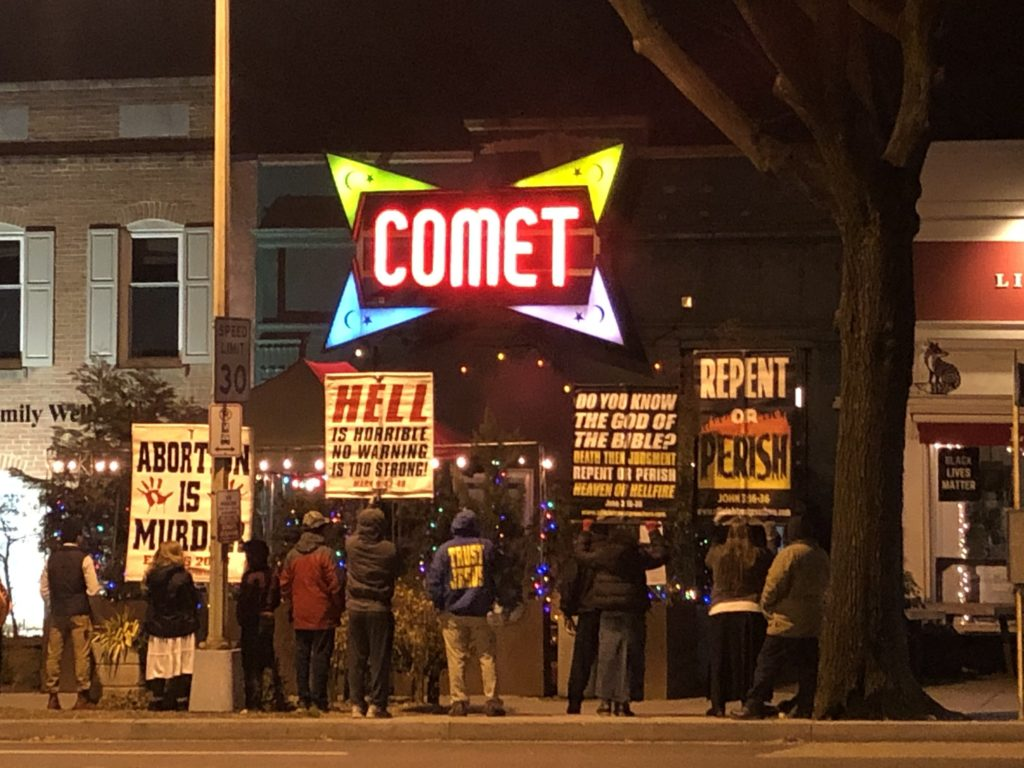Conspiracy Theorists Target Comet Ping Pong on Trump's Last Night in Office