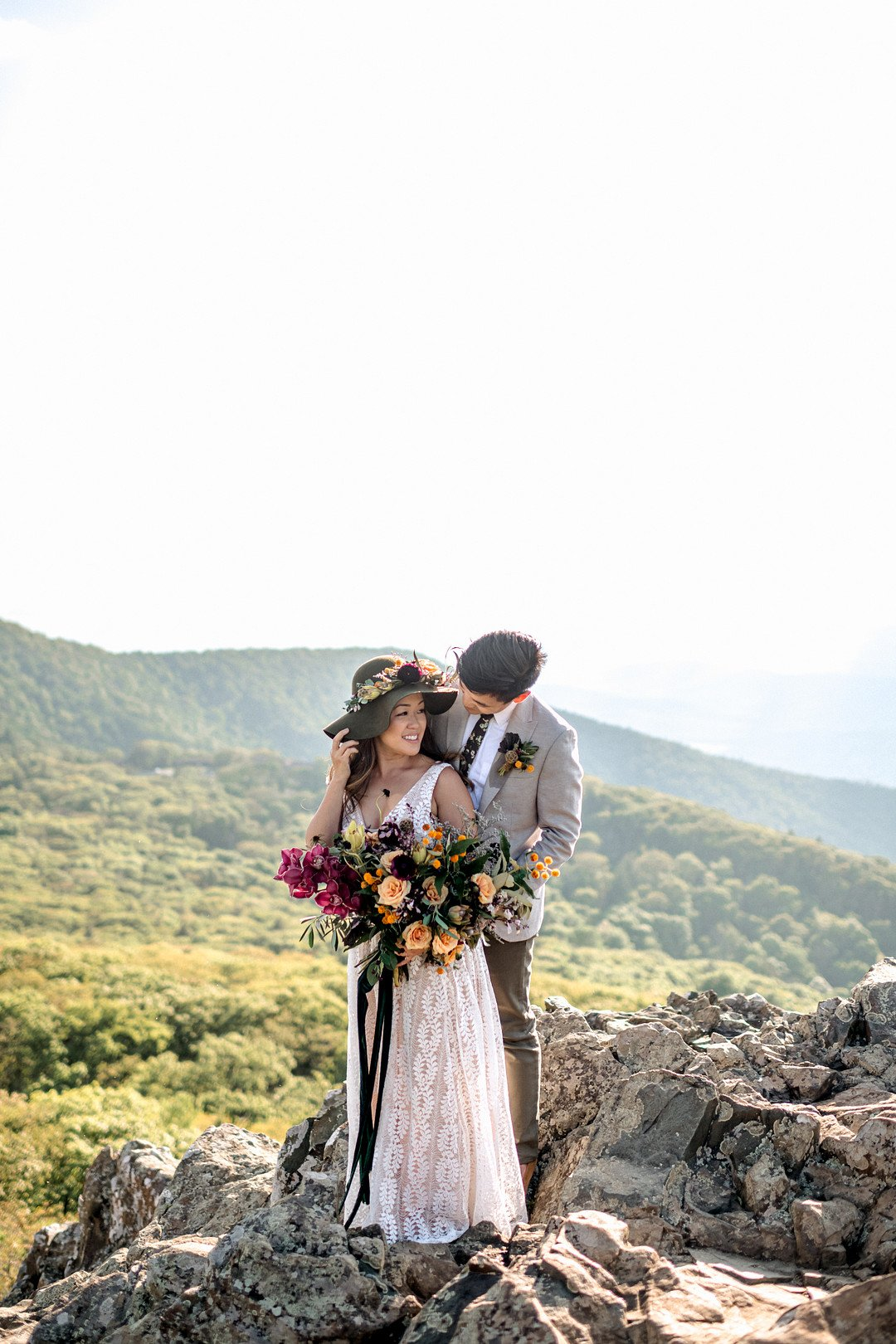 Boho Mountain Elopement in Shenandoah National Park_1001 Angles Photography_Shenandoah National Park Adventure Elopement-106_low