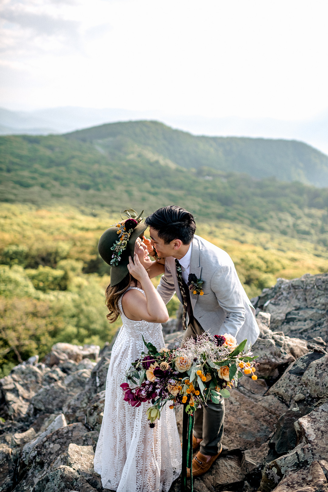 Boho Mountain Elopement in Shenandoah National Park_1001 Angles Photography_Shenandoah National Park Adventure Elopement-115_low