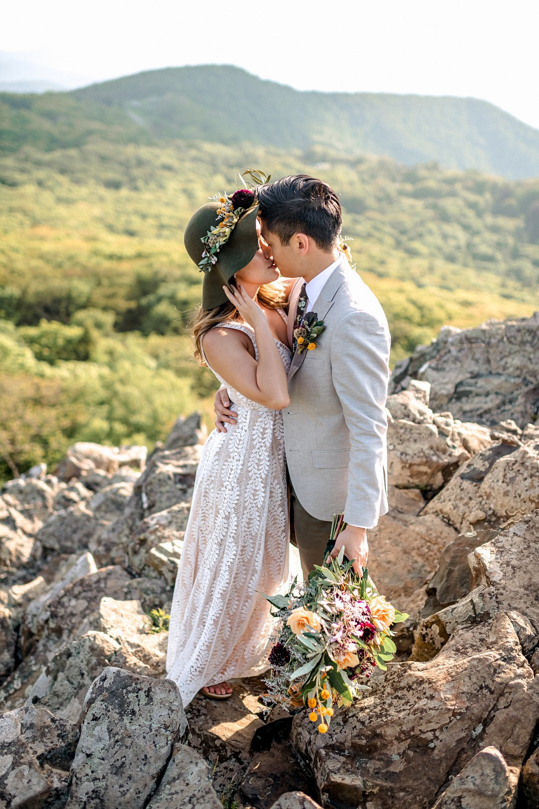 Boho Mountain Elopement in Shenandoah National Park_1001 Angles Photography_Shenandoah National Park Adventure Elopement-121_low