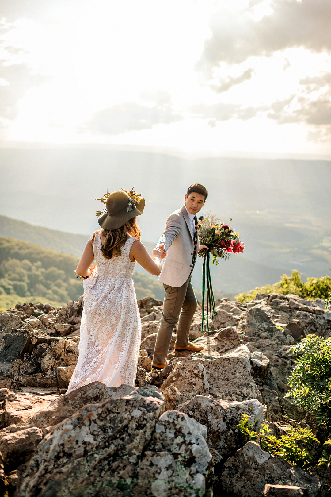 Boho Mountain Elopement in Shenandoah National Park_1001 Angles Photography_Shenandoah National Park Adventure Elopement-124_low