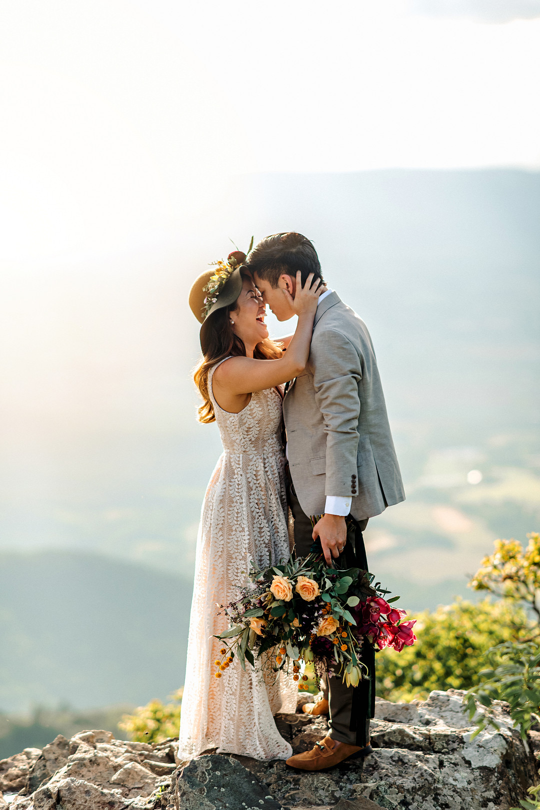 Boho Mountain Elopement in Shenandoah National Park_1001 Angles Photography_Shenandoah National Park Adventure Elopement-131_low