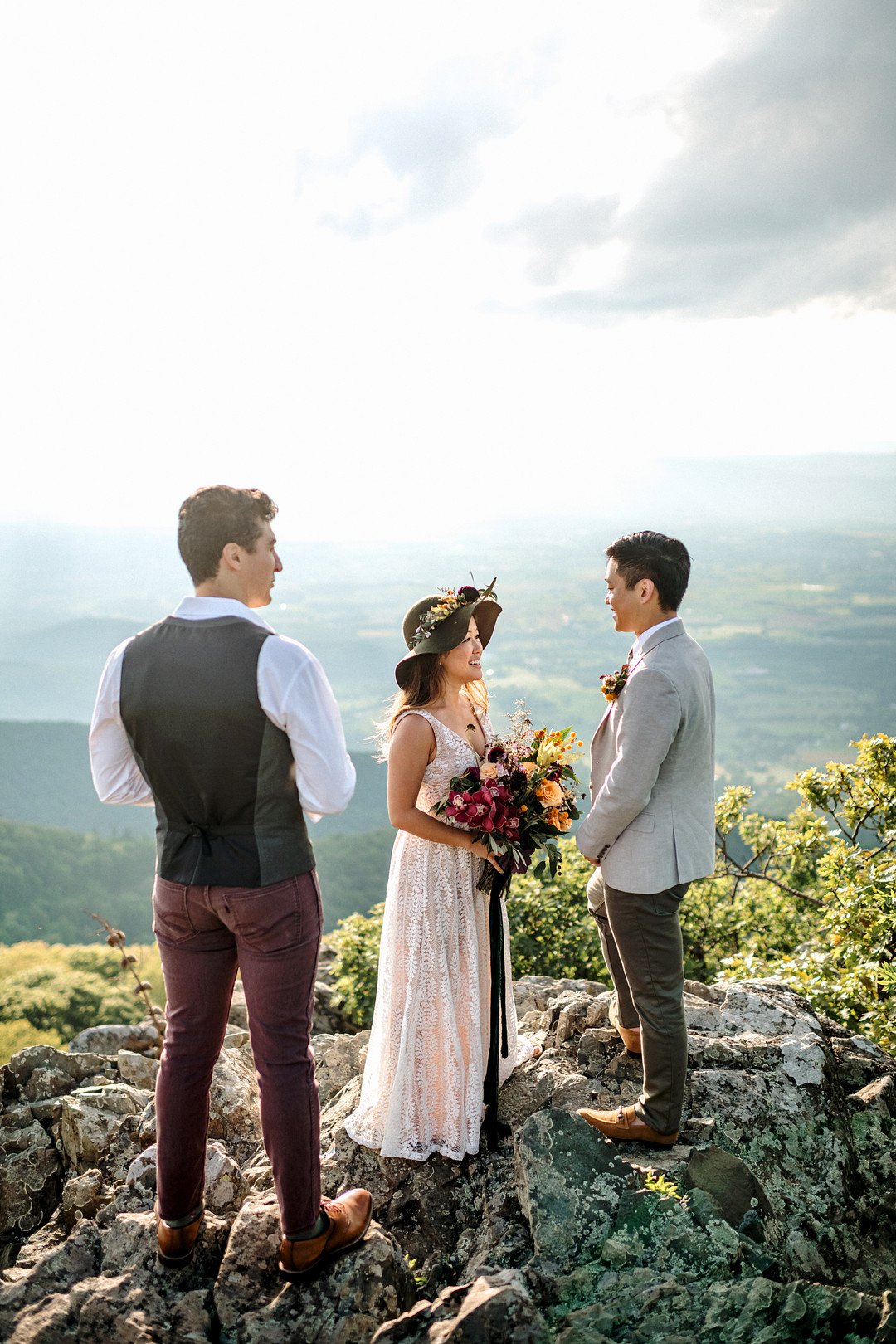 Boho Mountain Elopement in Shenandoah National Park_1001 Angles Photography_Shenandoah National Park Adventure Elopement-166_low