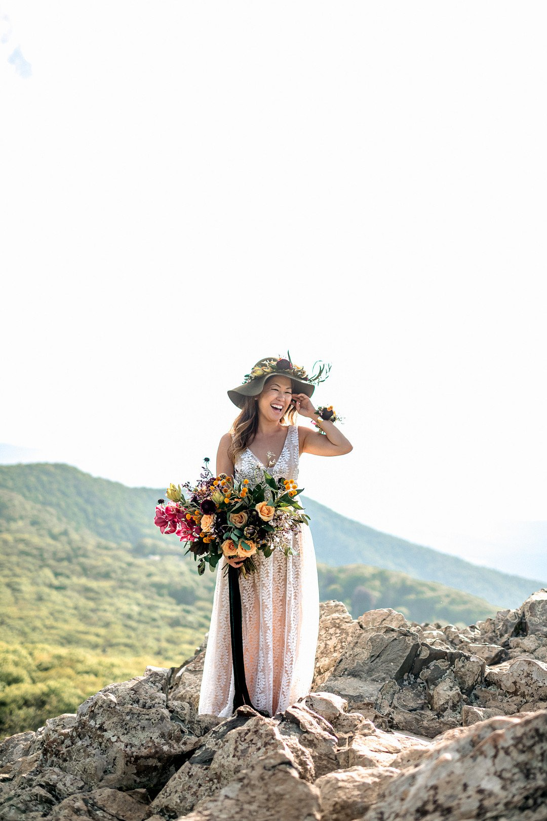 Boho Mountain Elopement in Shenandoah National Park_1001 Angles Photography_Shenandoah National Park Adventure Elopement-74_low