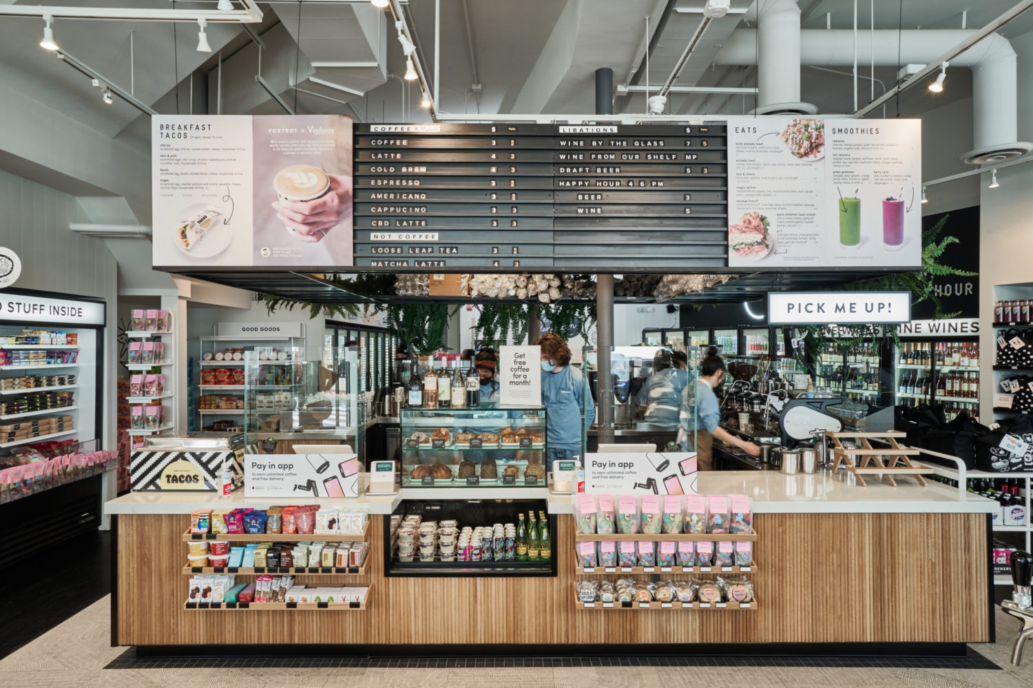 Georgetown's grab-and-go store Foxtrot is offering free Jeni's on Saturday. Photograph by Scott Suchman.