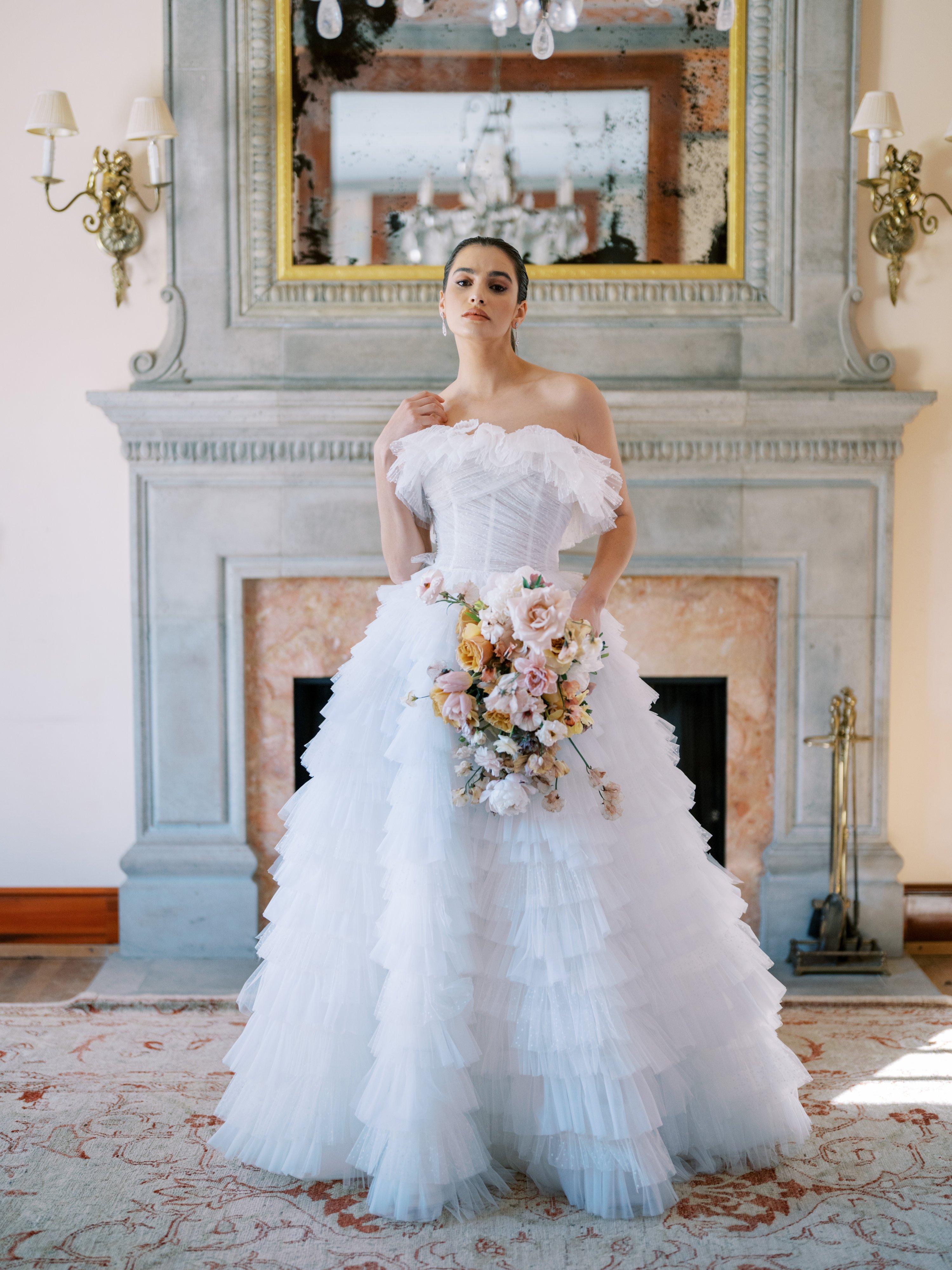 Trend Alert Ruffle Wedding Dresses That Ooze Romance Style