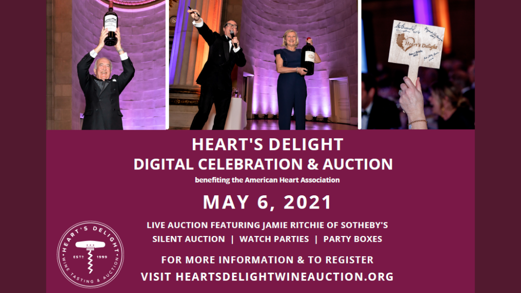 Sip, Bid, & Repeat: Heart's Delight Wine Tasting & Auction is Back as a Digital Celebration in Honor of its 21st Year