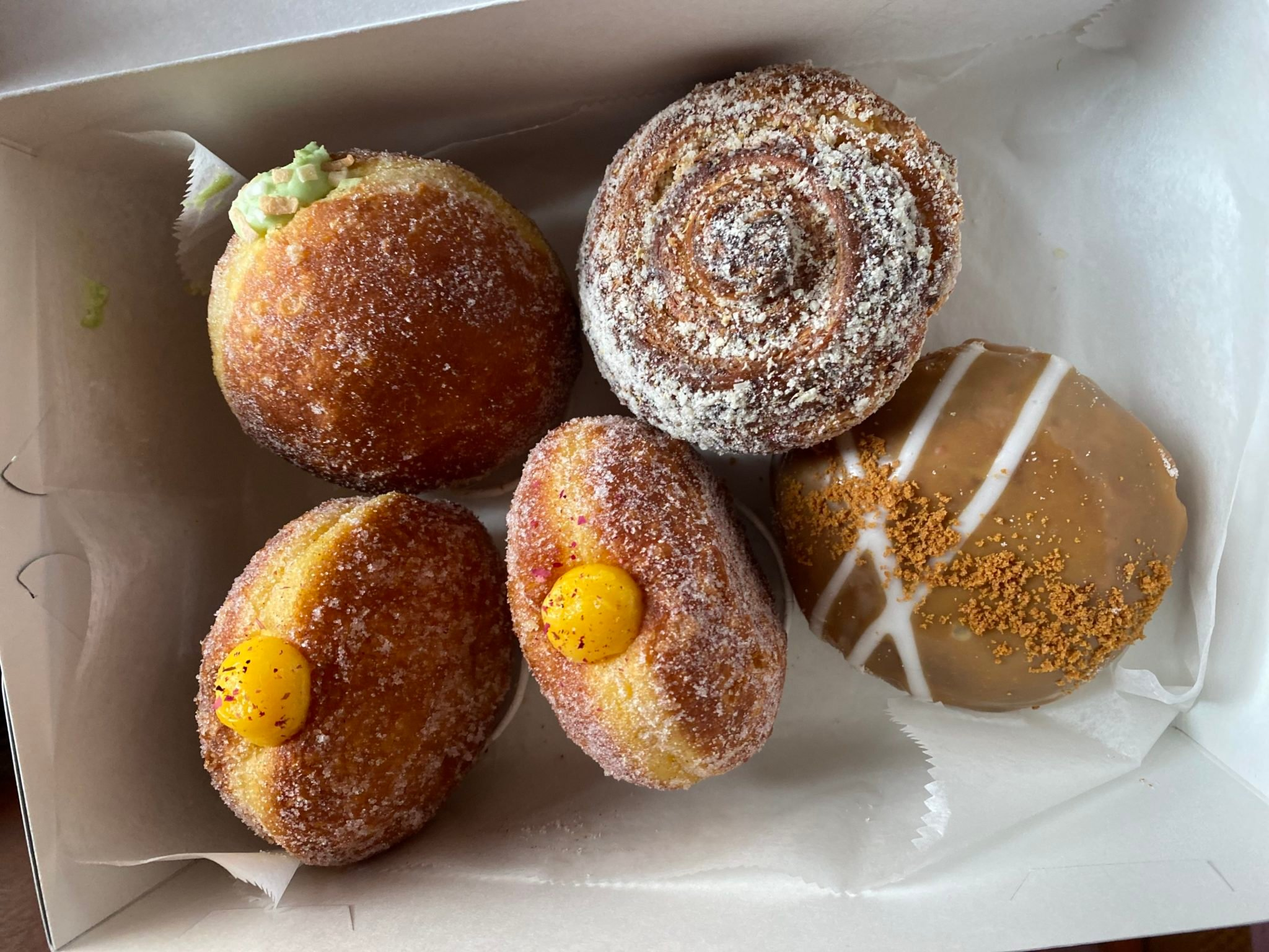 Assorted doughnuts and pastries from Rose Ave. Bakery. Photo by Sami Gruhin.