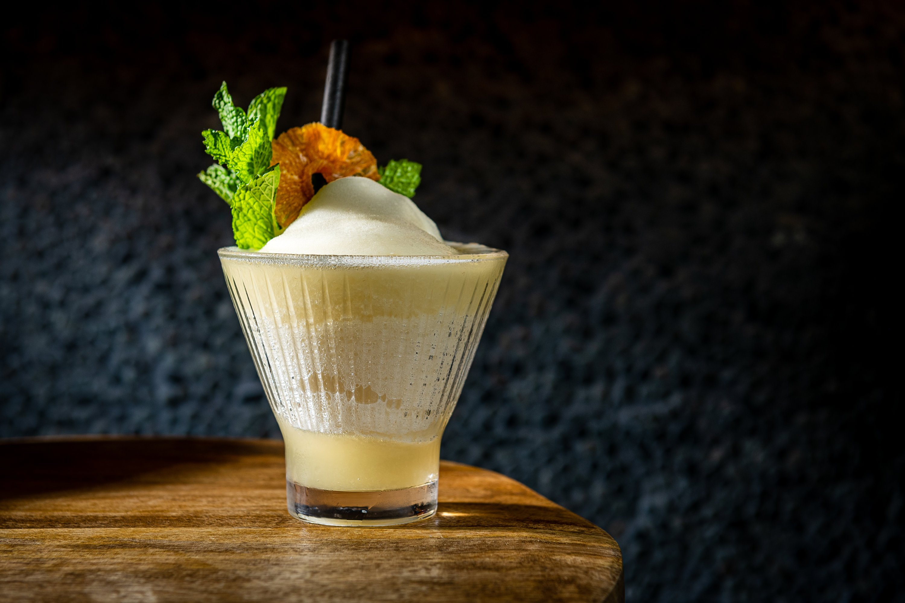 Frozen cocktails come in flavors like pineapple and coconut. Photo by Rey Lopez.
