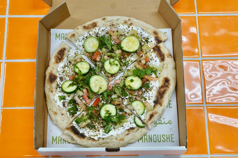 Manoushe, a Middle Eastern flatbread, is Z&Z's speciality. Photo courtesy of Z&Z.