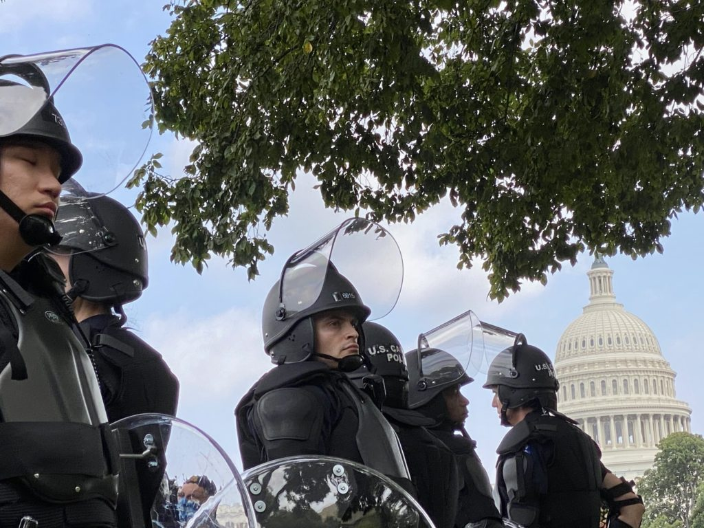 Cops and Journalists Vastly Outnumbered the Attendees at Saturday's Far-Right Rally in DC