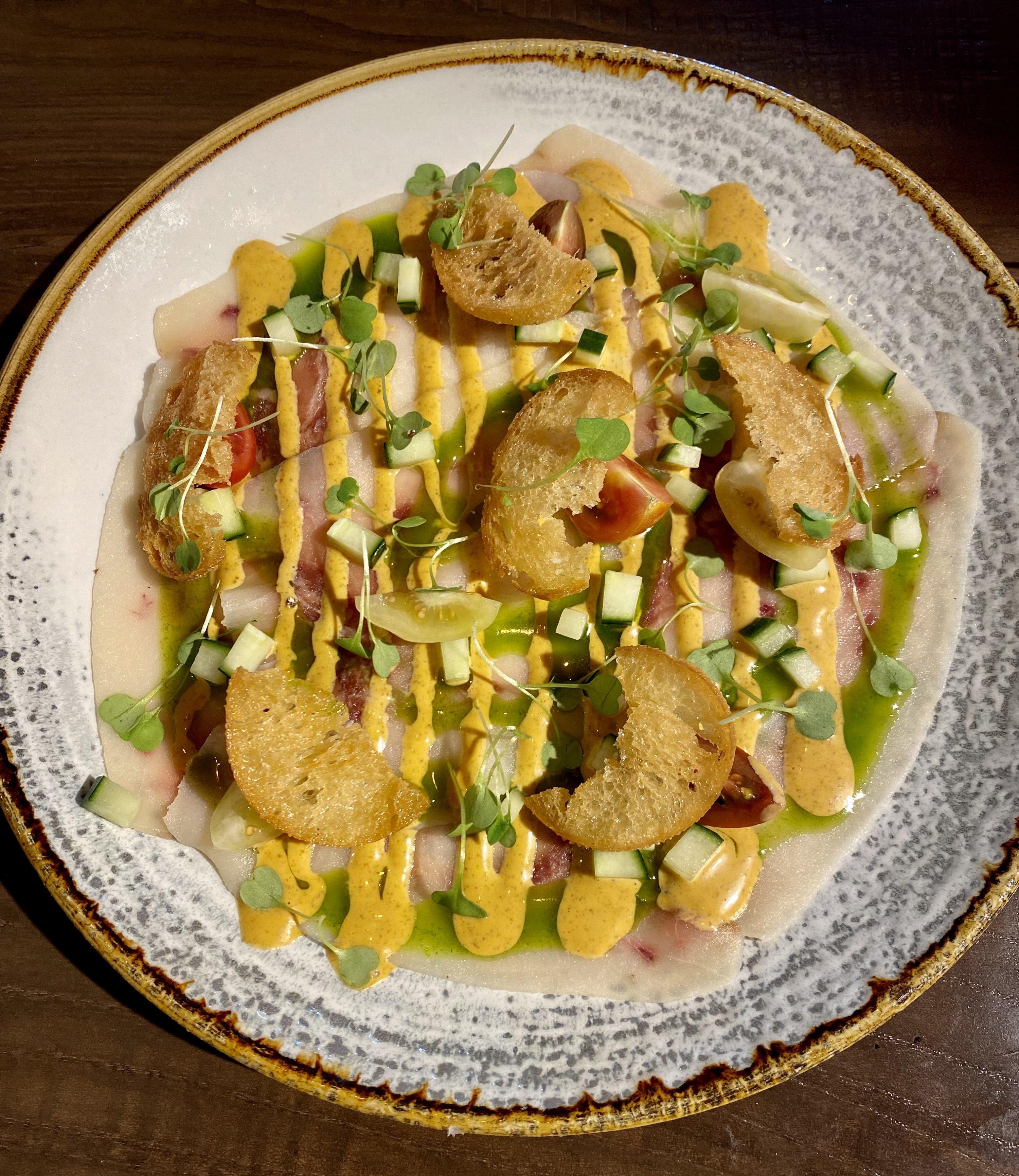 Carpaccio of swordfish.  Photo courtesy of Immigrant Food.